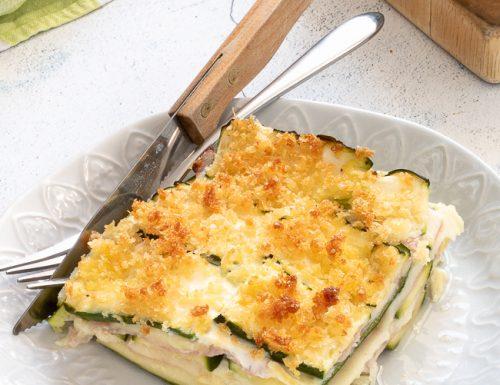 Sformato di zucchine con prosciutto e scamorza