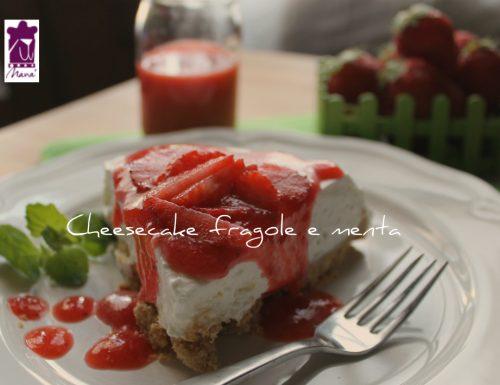 Cheesecake fragole e menta