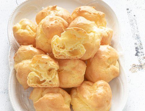Pasta choux o pasta bignè, ricetta bimby e tradizionale