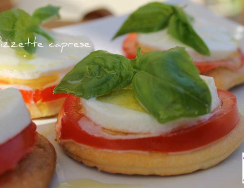 Pizzette caprese ricetta tradizionale e ricetta Bimby