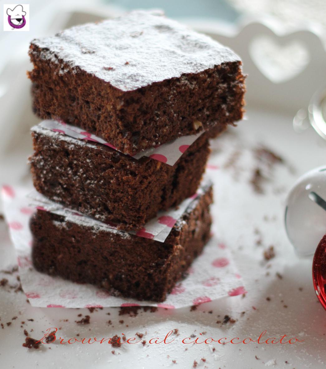 Ricetta Brownies Bimby Senza Burro.Ricetta Brownie Al Cioccolato Ricetta Con E Senza Bimby