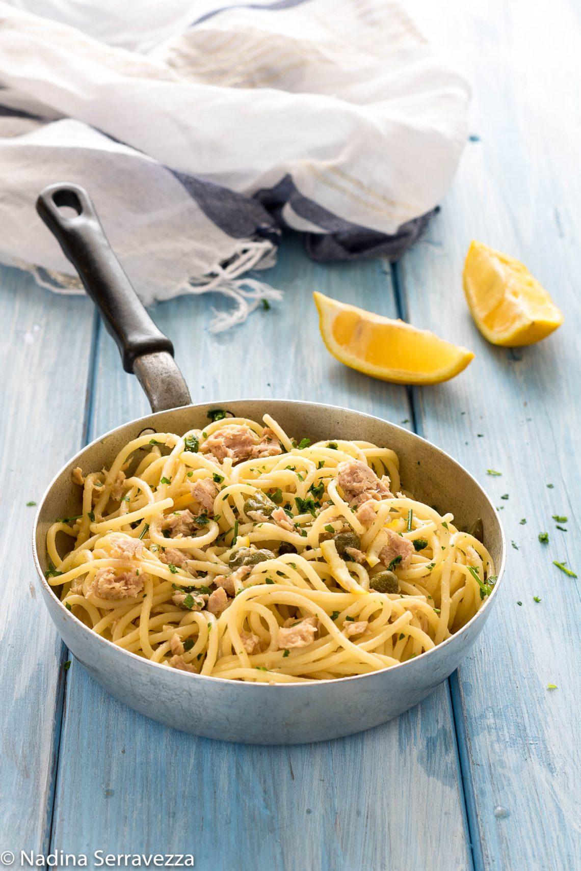 Spaghetti Tonno Limone E Capperi Ricetta Primi Piatti Di Pesce