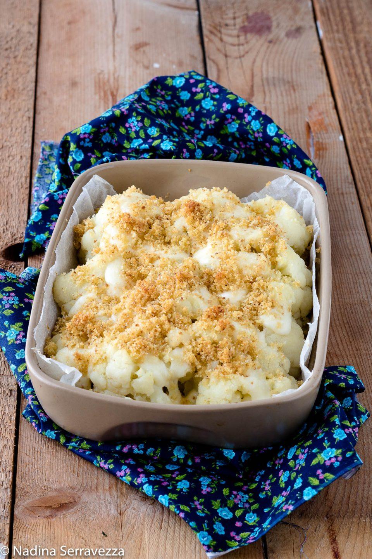 Cavolfiore gratinato al forno con mozzarella