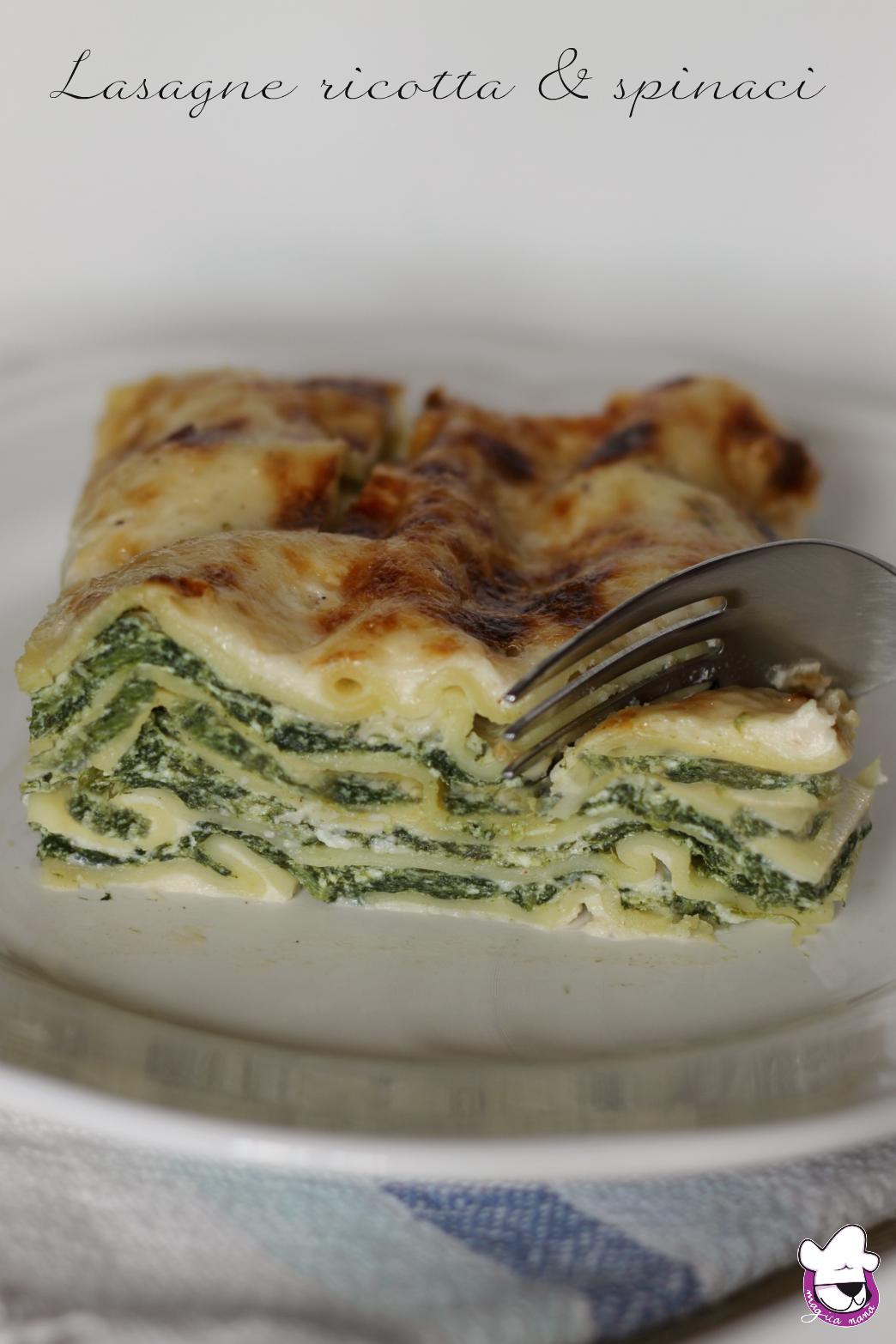 Ricetta Lasagne E Spinaci.Lasagne Ricotta E Spinaci
