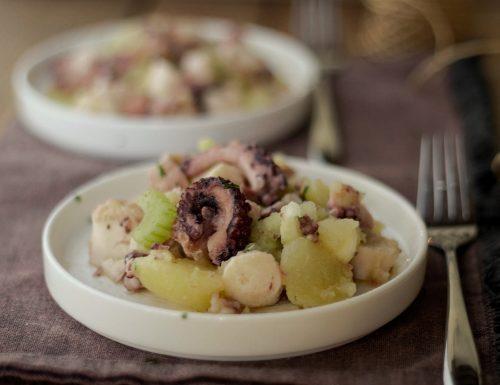 Insalata di polipo con patate e sedano