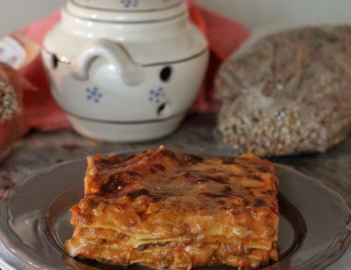Lasagne con ragù di lenticchie, ricetta vegetariana