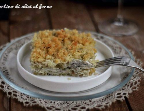 Tortino di alici al forno per il calendario del cibo italiano