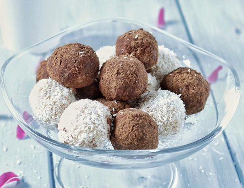 Praline ciocco-cocco,ricetta senza cottura