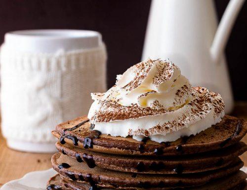 Pancake al cacao amaro , ricetta tradizionale e ricetta Bimby