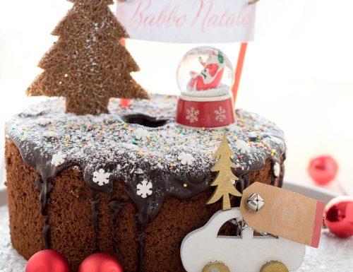 Japanese Pearl chiffon cake vestita a festa, ricetta di Monica Zacchia