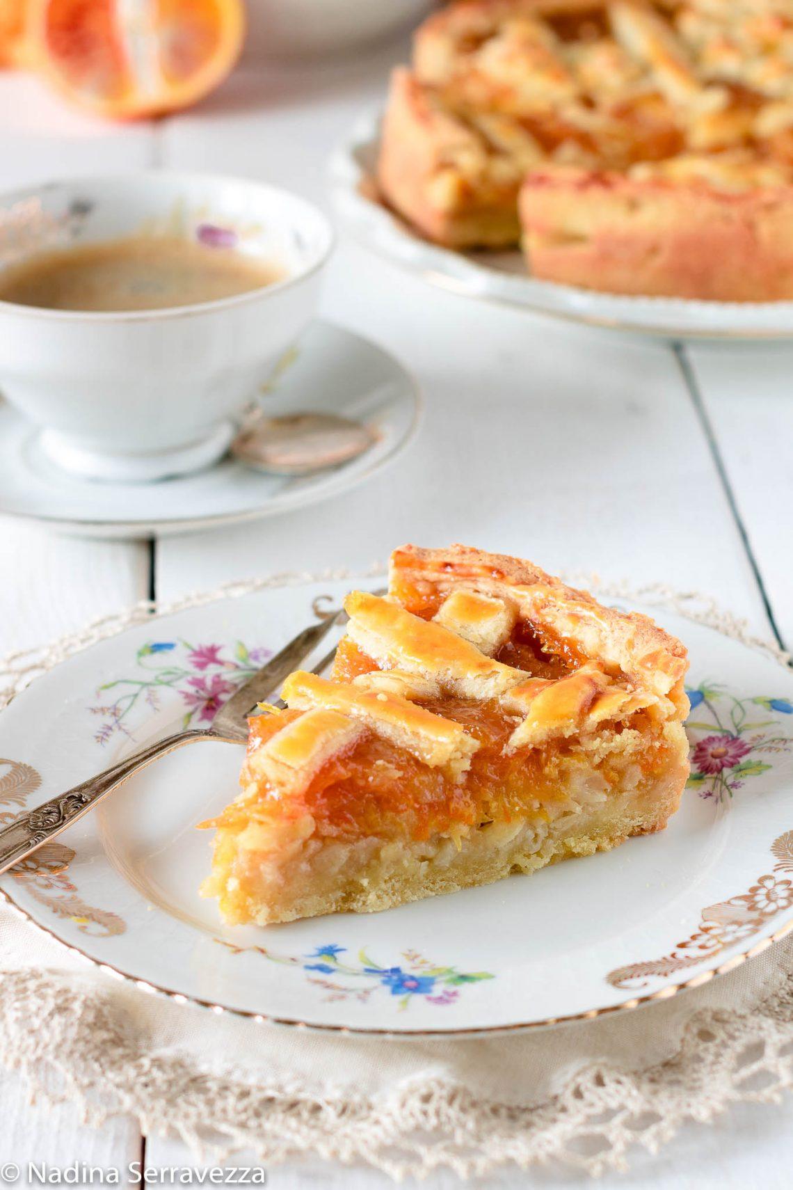 Crostata alle mele e marmellata di Anna del Conte