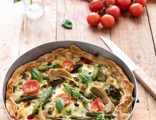 Tart con verdure primaverili e ricotta, ricetta Re-cake 2.0