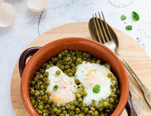 Uova con piselli, ricetta semplice e gustosa