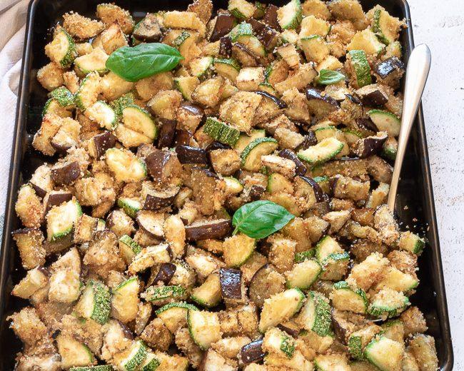 Melanzane e zucchine gratinate al forno, ricetta leggera