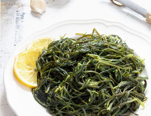 Agretti olio e limone, ricetta vegana
